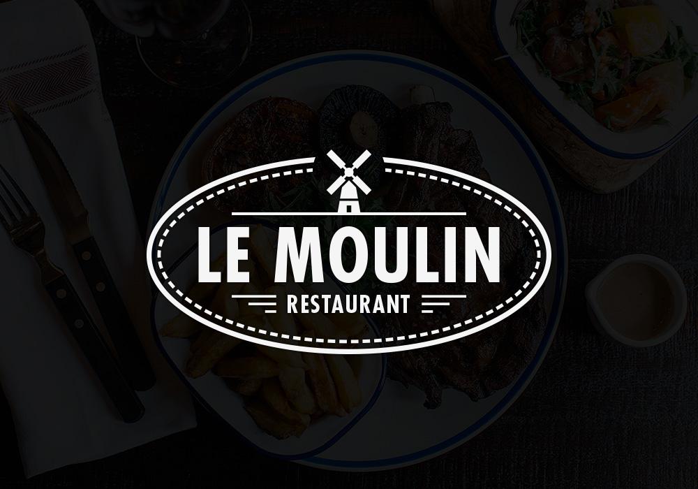 restaurant le moulin logotype